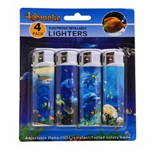 4SMOKE LIGHTERS -  FISH - 4 PACK