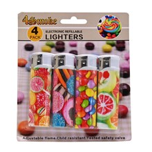 4SMOKE LIGHTERS - CANDY - 4 PACK