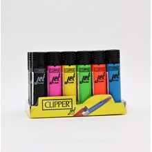 CLIPPER REFILLABLE JET FLAME - SHINY - 24 PACK