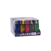 PROF SLIDECAP LIGHTERS - CLEAR COLOUR - 50 PACK