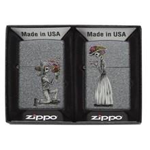 ZIPPO - DAY OF THE DEAD SKULL SET - 2 PACK