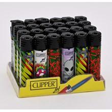 CLIPPER REFILLABLE JET LIGHTER - PSYCHO  24 PACK