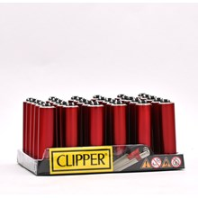 CLIPPER MICRO W/ METAL COVERS - RED - 30 PACK