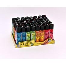 CLIPPER CLASSIC FLINT - PSYCHO SKULLS - 40 PACK