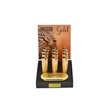 CLIPPER METAL FLINT - GOLD MATT - 12 PACK