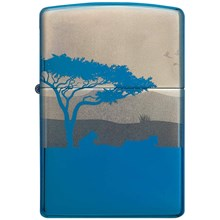 ZIPPO - LION HIGH POLISH BLUE