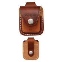 ZIPPO - REAL LEATHER LIGHTER POUCH - LOOP BROWN