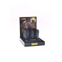 CLIPPER METAL JET FLAME - BLACK - 12 PACK