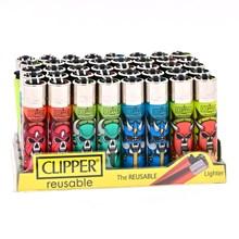 CLIPPER CLASSIC FLINT - SKULLS MIX 1 - 40 PACK