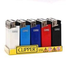 CLIPPER ELECTRONIC LIGHTER  - SOLID COLOUR - 25PAC