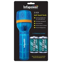 INFAPOWER LED 2 X D SOFT TOUCH TORCH