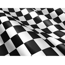 BLACK & WHITE CHECKERED FLAG 5X3FT SWL