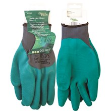 GREEN BLADE - CRINKLE LATEX GLOVE - L