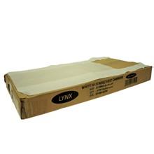 LYNX- JUMBO WHITE CARRIER BAG - 100 PACK