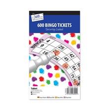 JUST STATIONERY - BINGO TICKETS - 600 PACK