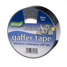 ULTRATAPE - LARGE RHINO CLOTH TAPE - 50M BLACK