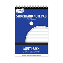 JUST STATIONERY - SHORTHAND NOTE PADS - 3 PACK