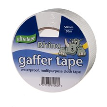 LARGE RHINO CLOTH TAPE 50M ***WHITE***