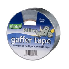 LARGE RHINO CLOTH TAPE 50M ***SILVER***
