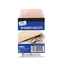 JUST STATIONERY - MONEY WALLETS - 80 PACK