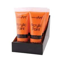 WORK OF ART - ORANGE ACRYLIC PAINT - 120ML