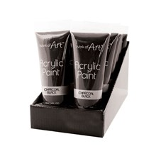 WORK OF ART - BLACK ACRYLIC PAINT - 120ML