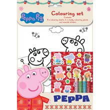 PEPPA PIG XMAS COLOURING SET