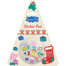 PEPPA PIG XMAS STICKER POD 50 STICKERS