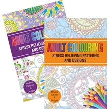 ADULT COLOURING BOOK 1 & 2 DESIGN