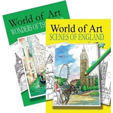 WORLD OF ART SCENES OF ENGLAND COLOURING BOOK