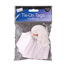JUST STATIONERY - PRE-STRUNG TAGS 36X53MM - 100 PK