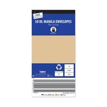 JUST STATIONERY - DL MANILA ENVELOPES - 50 PACK