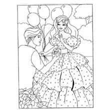 COLOURING BOARD PRINCESS BALLOON