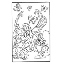 COLOURING BOARD BUTTERFLY FAIRY