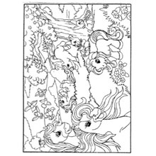 COLOURING BOARD PRETY PONY WOODLAND