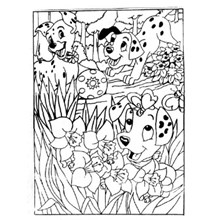 COLOURING BOARD DALMATIONS
