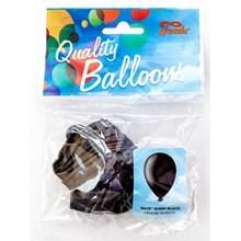 """FANTASIA BALLOONS 10 X 12"""" SHINY BLACK"""