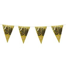 8M HOLOGRAPHIC GOLDEN ANNIVERSARY BUNTING