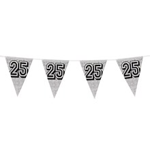8M HOLOGRAPHIC SILVER ANNIVERSARY BUNTING