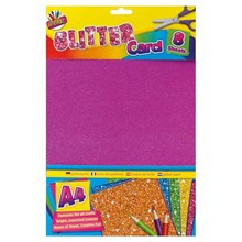 ARTBOX - A4 GLITTER CARDS - 8 SHEETS