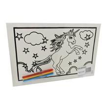 MEDIUM COLOURING BOARD - UNICORN STARS