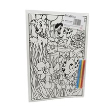MEDIUM COLOURING BOARD - DALMATIONS