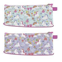 ZIPPED PENCIL CASE - UNICORN DESIGN