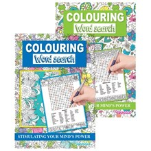 A4 COLOURING WORD SEARCH BOOK