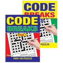 A4 CODE BREAKS PUZZLE BOOK