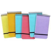 JUST STATIONERY - NEON POCKET NOTEPADS - 6PACK