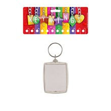 KEYRING PHOTO HOLDER 3.5X4.5CM - 12 PACK