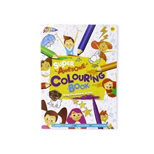 SUPER AWESOME COLOURING BOOK - 72 SHEETS