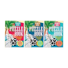 PUZZLE BOOK - A5 TRAVEL SIZE - 3 ASSORTED