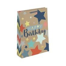 GIFT BAG - HAPPY BIRTHDAY KRAFT EFFECT - X LARGE